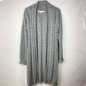 Max Studio | Open Cardigan grey alpaca wool blend